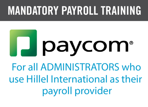 Paycom Training for Administrators 11/30: New Payroll/Human